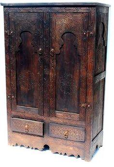 Moorish armoire, moorish decor, moorish design $900