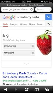 Google carbs....love it!  type what you looking for and carbs at the end..awesome..pops right up!