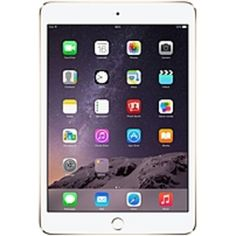 Apple iPad mini 3 MGYE2LL/A 16 GB Tablet - 7.9 - Retina Display, In-plane Switching (IPS) Technology - Wireless LAN - Apple A7 - Gold - iOS 8 - Slate - 2048 x 1536 Multi-touch Screen 4:3 Display (LED Backlight) - Bluetooth - Lightning - Front Camera/