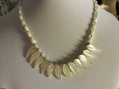 Mother of Pearl Necklace Made of Vintage by AprilSnowJewelry, $25.00