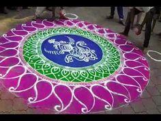 Diwali Special - Sanskar Bharati Rangoli Design, How to draw sanskar bharati rangoli - I - YouTube