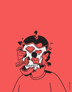 by Christopher Delorenzo Arte Dope, Ligne Claire, Skull Art, Aesthetic Art, Dark Art, Art Inspo, Illustrations Posters, Vector Art, Concept Art