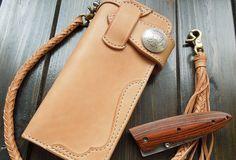 Handmade bifold natural leather Long wallet purse clutch for men/women card icon holder   EverHandmade