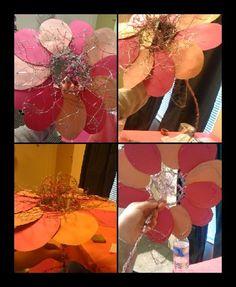 Wire Flower Sculpture