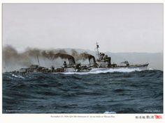 IJN destroyer Shikinami-II on sea trials at Miyazu Bay, Kyoto on November 13, 1929. (google.image) 9.17