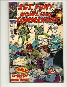 Sgt Fury And His Howling Commandos No. 59 - Marvel Comic Book Oct 1968