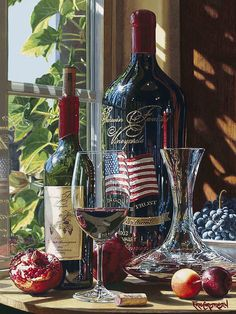 Master watercolorist Eric Christensen is known for his hyper-realistic wine still life paintings. Still Life Artists, Wine Painting, Watercolor Painting, Diamond Paint, Wine Art, Realistic Paintings, In Vino Veritas, Cross Paintings, Fine Wine