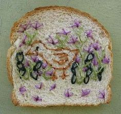 Embroidered Bread Wonder Bread Embroidery Gets the Van Gogh Treatment