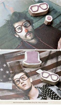 Fotos customizadas con sellos carvados #stamps