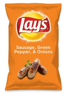 Wouldn't Sausage, Green Pepper, & Onions be yummy as a chip? Lay's Do Us A Flavor is back, and the search is on for the yummiest flavor idea. Create a flavor, choose a chip and you could win $1 million! https://www.dousaflavor.com See Rules.