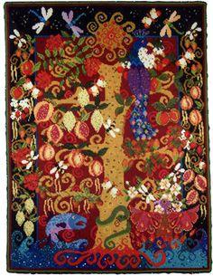 NeedlepointUS - World-class Needlepoint - Animal Fayre Needlepoint Tapestry - Tree of Life, Needlepoint Kits, AF45
