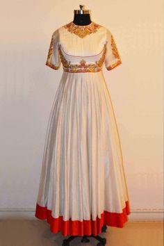 108e5e318e White Color Chanderi Silk Anarkali Design By Romsha Singh customise Now at  www.thepehnava.com