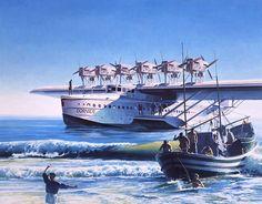 Steampunk air fleet Dornier Do X flying boat Amphibious Aircraft, Passenger Aircraft, Flying Ship, Flying Boat, Float Plane, Airplane Art, Used Boats, Aircraft Design, Aviation Art