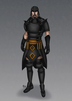 The idea was from 300 rise of an empire film. I made this guys as a persian queen's brother, so he will help his sister to get a greece kingdom.. Hmm yeeaaa.. That is my imagination.. :)
