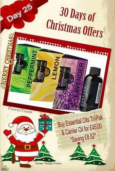 Day 25 of my advent calendar offers 🎄 It's beginning to smell a lot like Christmas! The purest oils delivered in this perfect gift set. Essential Oil Carrier Oils, Buy Essential Oils, Forever Living Business, Christmas Offers, Forever Aloe, Christmas Fairy, Christmas 2015, Pure Oils, Forever Living Products