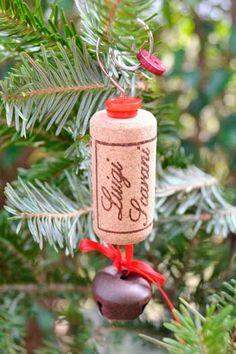 adorno para el árbol de Navidad con corcho de botella #manualidades #decoracion #adornos