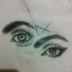 Chitrika dey artist amazing eyes pencil sketch