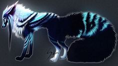 wolf anime mythical drawings fantasy wolves creatures pretty deviantart animals cute female drawing animal pups auction safiru closed magical mystical