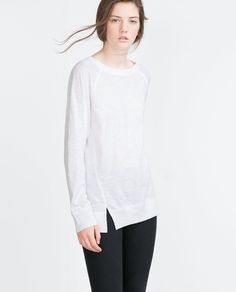 Image 1 of TOP WITH SIDE SLITS from Zara