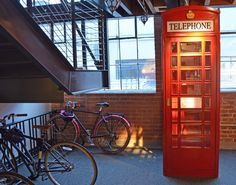 Pinterest offices. Across from the library is a phone booth for employees to make private calls.  #Pinterest