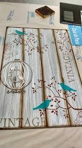 Discover thousands of images about Imagen relacionada Decoupage Vintage, Decoupage Art, Arte Pallet, Pallet Art, Wood Crafts, Diy And Crafts, Arts And Crafts, Stencil Art, Stencils