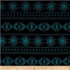 Hatchi Lightweight Sweater Knit Geo Diamonds Teal/Black