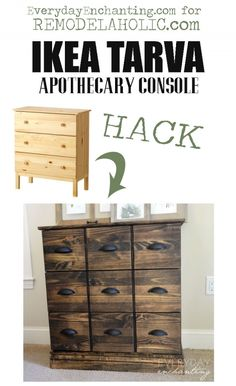 IKEA Dresser into Pottery Barn Apothecary Cabinet | Everyday Enchanting for Remodelaholic.com #diy #ikeahack #knockoff #furniture