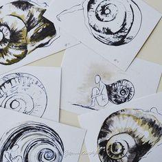Set van 6 geïllustreerde art cards  enveloppen door SuzanneKruisdijk