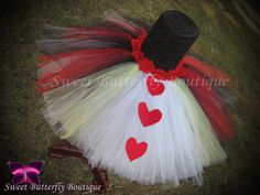 Queen of Hearts inspired tutu dress by SweetButterflyBtq on Etsy