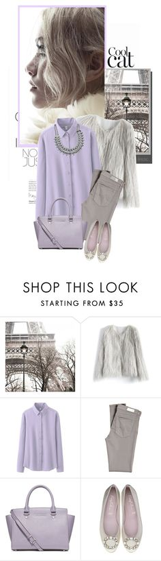 """""""Lavander.."""" by jugica ❤ liked on Polyvore featuring Elle, Chicwish, Uniqlo, AG Adriano Goldschmied and MICHAEL Michael Kors"""