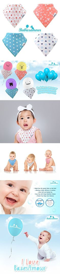 BabiesAmour Baby Bandana Bib for Drooling, Super absorbent and Soft, Gift Set of Boys and Girls