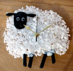 Make the white bumpy glass for the sheep.