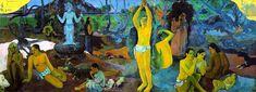 """""""Nereden geliyoruz? Neyiz? Nereye gidiyoruz?"""" başlıklı bu yapıt Fransız Empresyonist ressam Paul Gauguin'in (1848-1903) belki de en büyük şaheseridir.Bu resim, sağ üst köşede yazan başlıktan yola çıkılarak sağdan sola doğru bir metin olarak görülebilir. Bu anlamda, resimde yer alan çeşitli figürler insan varoluşuna ilişkin soruları temsil etmektedirler."""