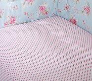 Pottery Barn Kids Mini Dot Crib Fitted Sheet, Light Pink