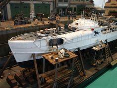 """Der Panther em Dock"" By Modeler Pierre Lanzon 1:35 Italeri Schnellboot"