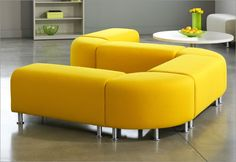 ALIGHT: Light-scale lounge pieces designed for impromptu and collaborative spaces. Sets the stage for creative thinking and a more relaxed working environment. Unique and distinctive, designed by Kirt Martin. Perfect for reception, lounge, and teaming areas, Alight is also highly functional for in-between spaces like hallways or in smaller areas like private offices. End table base can be flipped to provide two unique looks. Available in three shapes that work together or independently.