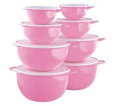 Tupperware Thatsa Bowl 8-pc Set is a wonderful set to keep one 4-pc set for you and give the other set as a gift.  Tupperware has gone pink in October and I'm donating 5% of my profit to Breast Cancer Research on any pink item that is purchased.  www.my.tupperware.com/clkillham