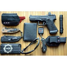 Agency Arms Glock, keybar, Emerson Knives... this is a slick EDC.
