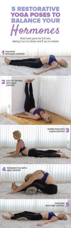 Have you noticed your hormones may be off-balance? Here is a relaxing yoga routine to help get you back on track. Get the full yoga sequence here: paleo diet chart Fitness Workouts, Yoga Fitness, Muscle Fitness, Workout Routines, Health Fitness, Fitness Plan, Easy Fitness, Fitness Games, Fitness Motivation