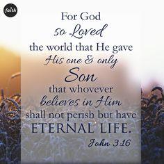 John 3:16...For God so loved the world.
