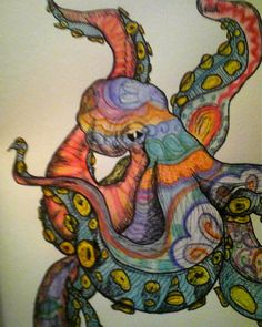 octopus -  this sort of idea, but florally?
