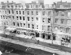 Aftermath of the fire at the Lister Building February 1923