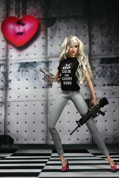 Keep Calm and Carry Guns | Silver Sable