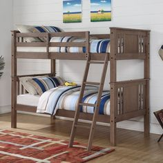 Donco Princeton Twin over Twin Bunk Bed - Slate Gray | from hayneedle.com
