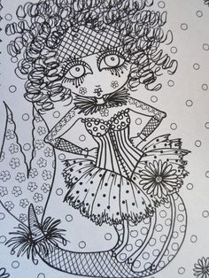 Burlesque Mermaids Coloring Book Unique Fun Art By ChubbyMermaid