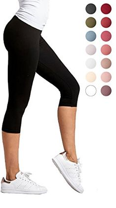 c098dac4434 Conceited Premium Ultra Soft Women's Capri Cropped Leggings High Waist 20  Colors 2 Sizes Plus Size 1224 Black     See this great product.