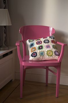 Crochet - cushion cover by Hoekie, via Flickr