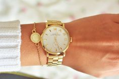Marc by Marc Jacobs Enamel Disc Bracelet and Baker watch via Daily Glamorous