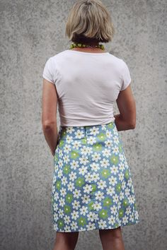 The Annie A-line skirt is a perfect pattern for the beginner or novice sewer. It is a simple A-line skirt with a back zipper and an easy faced waistline.