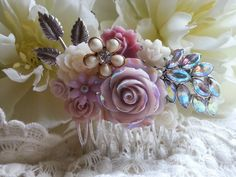 VICTORIAN LUSTER Hair Comb for the by thesparklingsparrow on Etsy